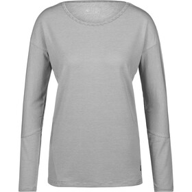 tentree Goji LS Shirt Damen gargoyle grey micro stripe